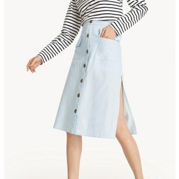 5b0e31b518 Pomelo Skirts | Nwt Midi Light Blue Midi Skirt | Poshmark